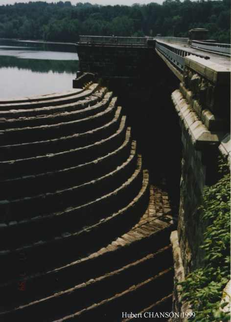 gold creek dam and its historical stepped spillway system
